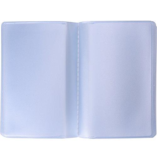 2 Piezas de Insertación de Tarjetero de Plástico Funda de Tarjeta con 10 Páginas 20 Ranuras y 10 Páginas 10 Ranuras, Transparente
