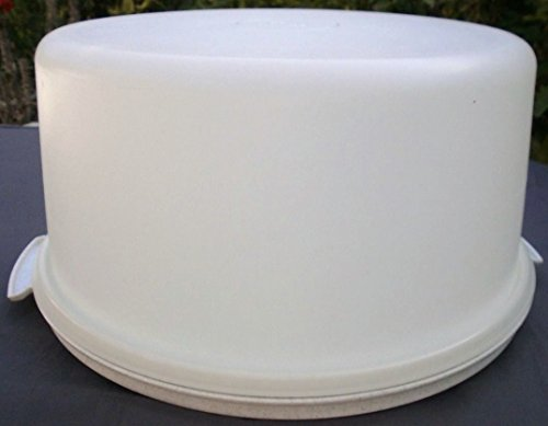 Tupperware Maxi Cake Taker Pie Carrier White Base and Sheer Cover...