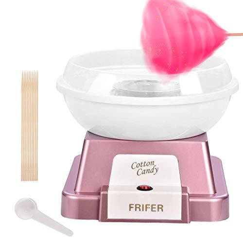 Zuckerwattemaschine für Zuhause,Cotton Candy Machine,Candy Floss Maschine Set für Zucker oder Harte Süßigkeiten Zuckerwattegerät für Kindergeburtstag (Rose gold)