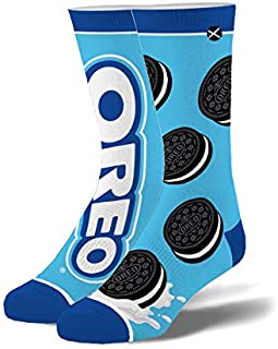 Odd Sox, Unisex, Food, Snacks Cookies Chips, Crew Socks, Novelty Funny Cool Silly