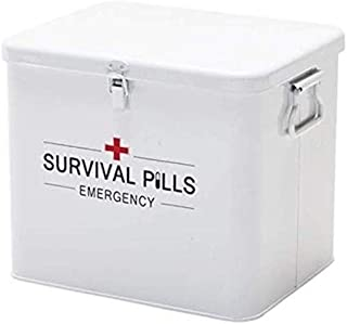 AINIYF Household Multi-Layer Medicine Box Large Capacity Multi-Function First Aid Box Storage Medical Box (Color : White)