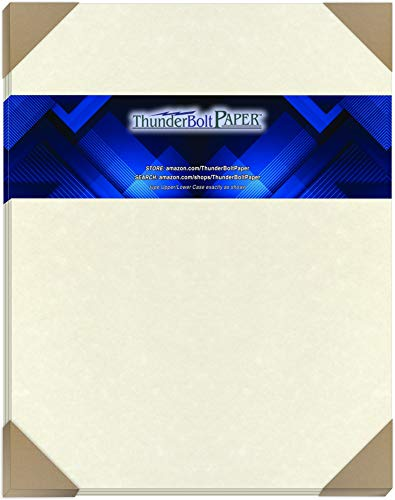 "25 White Parchment 65lb Cover Weight Paper 11"" X 14"" (11X14 Inches) Scrapbook