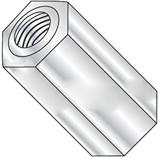 Female Lyn-Tron 5 Length, Zinc Plated Steel 8-32 Screw Size Pack of 1 0.312 OD