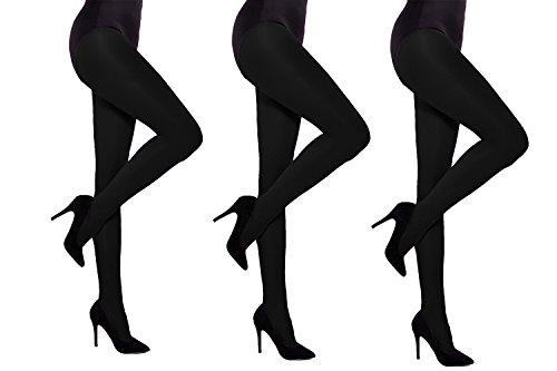 Dikke Opaque Vrouwen Panty 60 denier Aurellie - 3 PACK Zwart