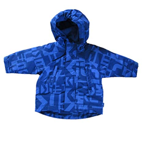 Marken-Baby-Anorak, Übergangsjacke, Windjacke mit Fleecefutter, blau, Gr. 68