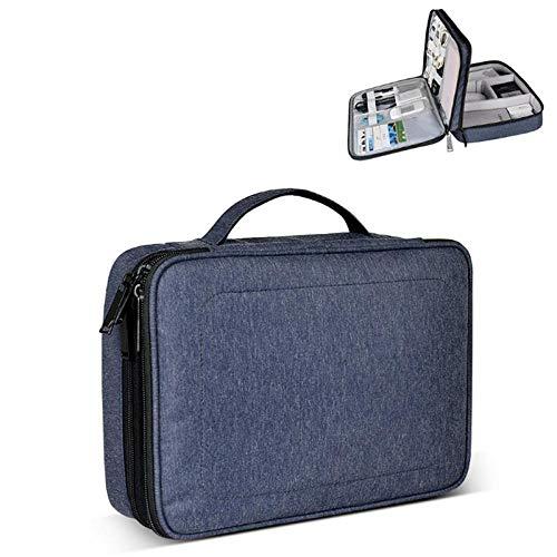 Sac à cosmétiques Accessoires Sac de Rangement Sac Double Couche Multi-Fonctions Grande capacité Sac étanche en Nylon-Blue_blg_30 * 8 * 22cm