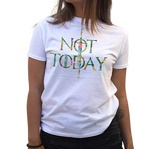 Lapi Boutique Not Today Arya Stark Flowers Camiseta de Mujer