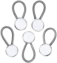 Comfy Clothiers 5-Pack White Collar Extenders - Dress Shirt Button Extender