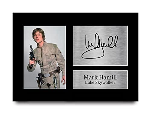 HWC Trading Mark Hamill A4 Sin Marco Regalo De Visualización De Fotos De Impresión De Imagen...