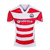 LQLD Jersey de Rugby 2019, Japonais Jersey Jersey, Joueur à Manches Courtes en été 2019, t-Shirt de Sport en Polyester Respirant,Rouge,M