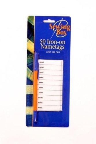 Namensschilder zum Aufbügeln, mit Tintenstift, 100 Stück