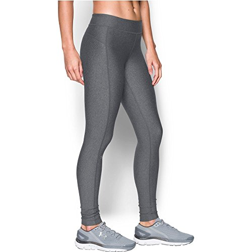 Under Armour UA HG Armour Legging Femme, Carbon Heather, FR : M (Taille Fabricant : MD)