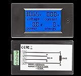 LIZONGFQ DC 20A LCD Combo Miernik Napięcie Prąd KWh Watt Monitor mocy panelu akumulatora samochodowego