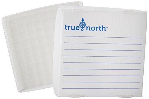 Heathrow Scientific HD120383True North Flatpack PP scatole per congelatore, 100place, 0.5ml, bianco (confezione da 10)