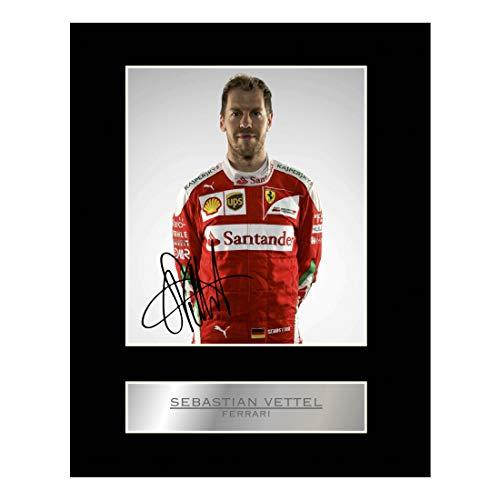 Sebastian Vettel Signiert Foto Display Ferrari