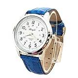 Bestow Reloj Simple Reloj de Pulsera de Cuarzo Elegante Correa de Cuero Deportivo Anal¨®gico BK Reloj