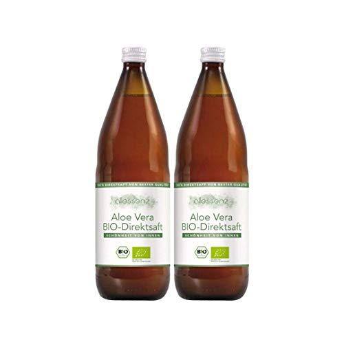 100% Aloe Vera Saft, Bio Direktsaft, Aloe Barbadensis Miller, 100% Innenfilet, handfiletiert, 1.000 ml Flasche enthält 1200mg/Liter Aloverose (2) …