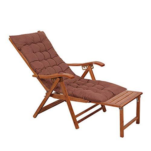 Silla reclinables Tumbona de jardín Tumbona Gravedad Cero Bamboo Beach Bed Respaldo reclinable cómodo ergonómico Sin Peso Adustable Lugar Agradable xiuyun