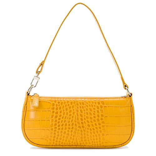 Shoulder Bag For Women Handbags Ins Crocodile Pattern Baguette Bag Retro