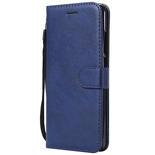 Hülle für Xiaomi [Redmi Note 5 Pro] Hülle Leder,[Kartenfach & Standfunktion] Flip Case Lederhülle Schutzhülle für Xiaomi Redmi Note 5 Pro - EYKT051945 Blau