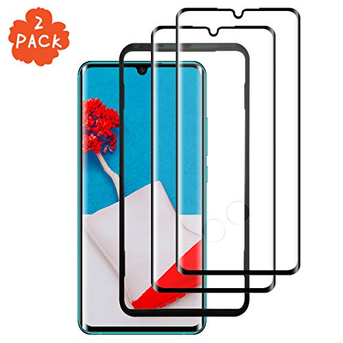 LQLY Protector de Pantalla para Xiaomi Mi Note 10 (2 Unidades), [Ultra Claro] [Dureza 9H] [Marco de Alineación] Cristal Templado para Xiaomi Mi Note 10
