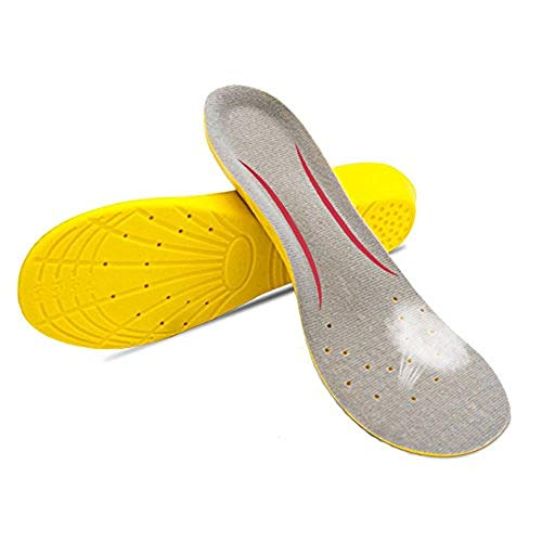 GAOAG Orthotic Plantar Fasciitis Shoe Insole Sport Breathable Cushion Height Increase Insole Comfort Performance Insole (Yello, Men's(6.5-9.5) Women's(7.5-11))