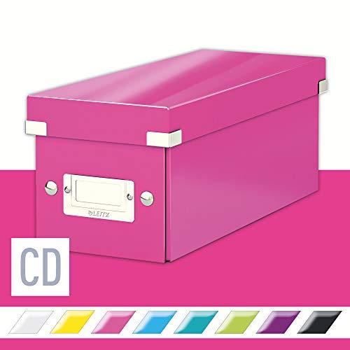 Leitz CD Aufbewahrungsbox, Pink, Mit Deckel, Click & Store, 60410023