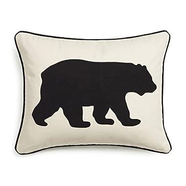 Eddie Bauer 216606 Black Bear Twill Decorative Pillow,Black