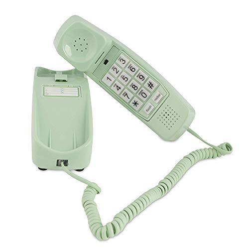 Corded Phone - Phones for Seniors - Phone for Hearing impaired - Earth Day Green - Retro Novelty Telephone - an Improved Version of The Princess Phones in 1965 - Style Big Button - iSoHo Phones