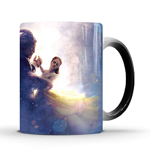 Beauty and the Beast Heat-sensitive Color Changing Coffee Mugs for Kids Halloween Christmas birthday gift