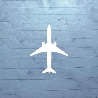 cybersavs DIE Cut Art Adhesive Vinyl Boeing 777 300 Jet Airliner Sticker Window Bike Wall MacBook White Notebook CAR Helmet AUTO CAR Wall Art Vinyl Decor Decoration Home Decor