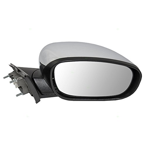 Passengers Power Side View Mirror Heated with Chrome Cover Replacement for Chrysler Dodge 4805882AK