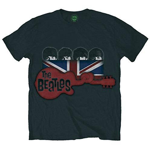 Rockoff Trade Herren Guitar & Flag T-Shirt, Schwarz, XL