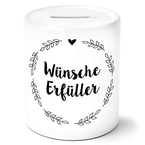 OWLBOOK Wünscherfüller Floral Spardose Geschenke Geschenkideen für Frauen zum Geburtstag Hochzeit