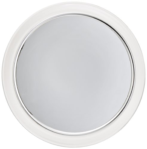 Jerdon JPFM9 9Inch Fogless Suction Shower Mirror with 3x Magnification Chrome and Acrylic Finish