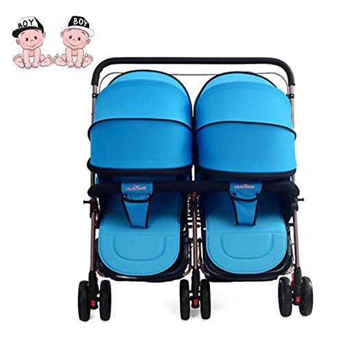 MMYYIP Tweeling-kinderwagen, liggend kinderwagen, ruimte vinden kan worden gewijzigd om pasgeboren babyauto te verdubbelen