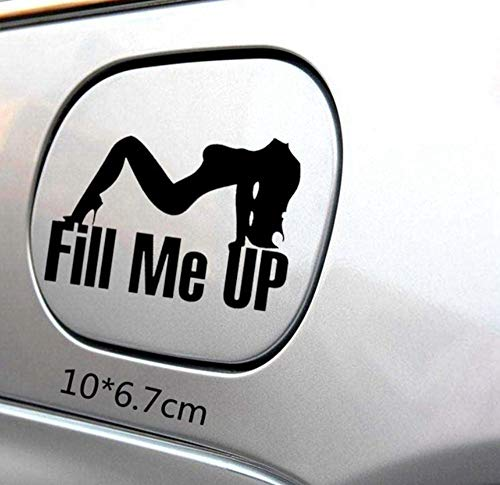 2 STKS 10X6.7 CM Auto Styling Auto Stickers Fill Me Up Tankdop Auto Sticker Motorfiets Decoraties