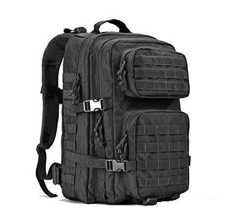 CYYAW, Sac à Dos de Sport de 40 L, résistant à l'eau avec Pochette détachable pour randonnée, Camping, Chasse (Noir)