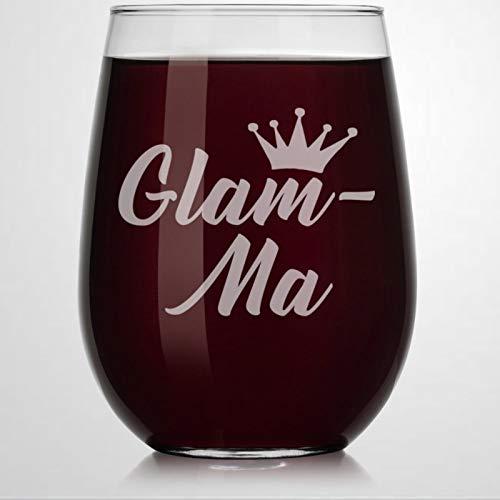 Glam-Ma Verre à vin sans pied en cristal gravé pour whisky ou liqueur Idéal pour père, maman, garçon ou petite amie