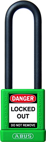 ABUS 58984 75mm Non Conductive Lock Out Tag Out Long Shackle Anodized...