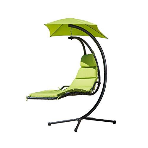 Christopher Knight Home 295806 Corolla - Silla Colgante para Exteriores con cojín Verde, Color a Eleg