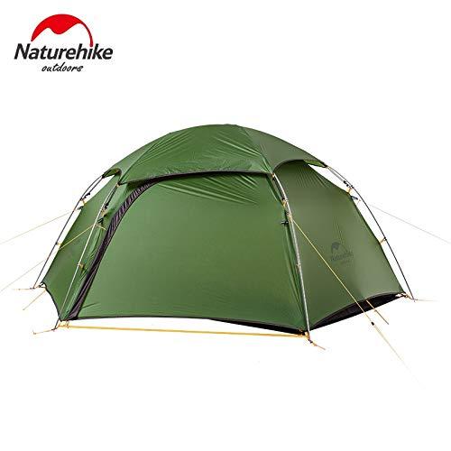 YITEJIA Waterproof outdoor tent 2 Man Winter Camping Tent 4 Season Ultralight 2 Person Camp Tente Cloud Peak 2/ 15D blue/ 20D green (Color : 20d Green)