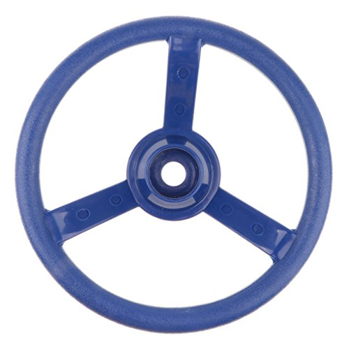 non-brand 30cm Juguete Infantil Volante de Columpio de Madera Accesorio de Parque Deportes Interior/Exterior Regalo Divertido para Niños - Azul