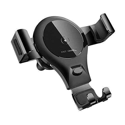 Soporte inalámbrico para cargador de automóvil, 10W / 7.5W / 5W Cargador inalámbrico rápido Soporte para teléfono con ventilación de aire para automóvil con sensor de gravedad 360 °; Compatible con r
