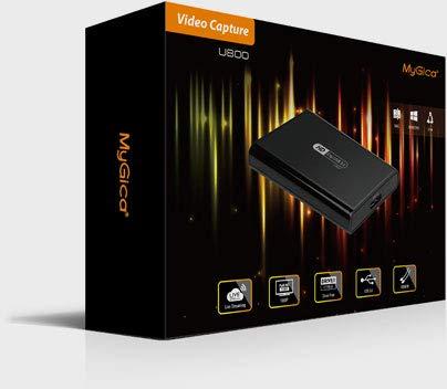 MyGica U800 Scheda USB 3.0 Grabber HDMI 1080p 60fps per Acquisizione Video e Live Streaming, Compatibile Windows Mac Linux Free Driver Video Game Capture Xbox Ps3 Ps4 Nintendo Wii Dvd Decoder Blu-Ray