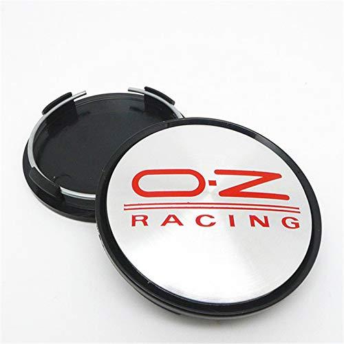 GONGYBZ 4pcs 63mm Tapas de Cubo de Centro de Rueda para OZ Racing WRC Llantas Cubos de reemplazo de Cubierta M595 Car Styling Emblem 57MM Negro