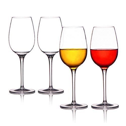 Material Copa de vino de plástico irrompible Copa de jugo rojo transparente 225 * 59 mm-4 PCS_301-400 ml