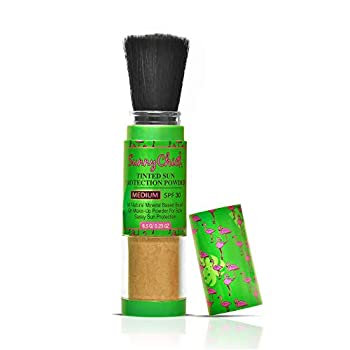 Sunny Chick Sunscreen Powder- Tinted Brush-On Mineral Sunblock SPF30 .23OZ  Medium
