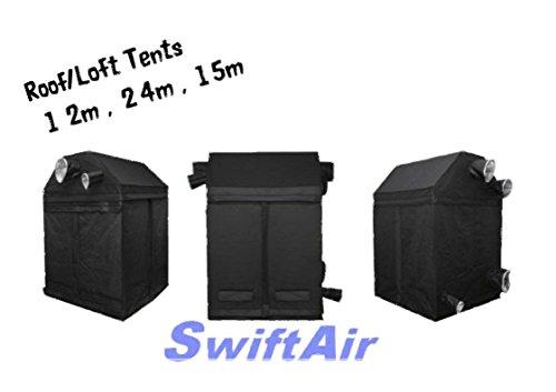 Swiftair Roof Loft 1.2m 1.5m 2.4m Portable Grow Tent Room Silver Mylar Hydroponics (240 x 120 x 180 Roof)