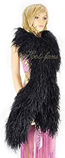 luxury black feather boa